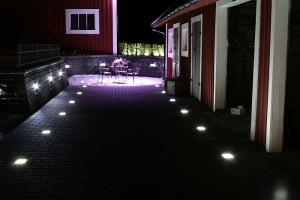 Glasstenar med LED