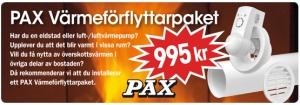 pax värmeförflyttar paket